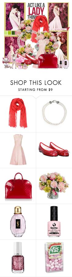 """Act Like a Lady"" by clmarelich0824 ❤ liked on Polyvore featuring Valentino, Lagos, Roksanda Ilincic, French Sole FS/NY, Louis Vuitton, New Growth Designs, Yves Saint Laurent, Seche, Essie and Disney"