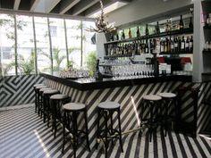 striped tile, celeste teahouse in mexico city