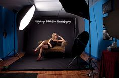 Stunning blonde woman on leopard print couch on black paper background. Studio lighting setup wide shot. | Flickr - Photo Sharing!