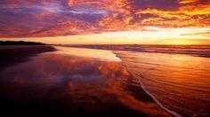 Webshots - Sunrise at Moreton Island, Queensland, Australia