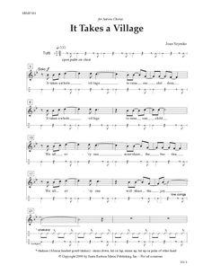 It Takes a Village (SATB) by Joan Szymko| J.W. Pepper Sheet Music