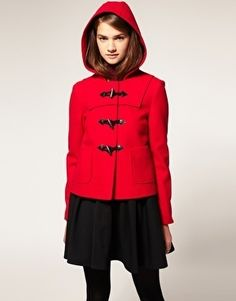 ASOS Short Duffle Coat With Hood - StyleSays