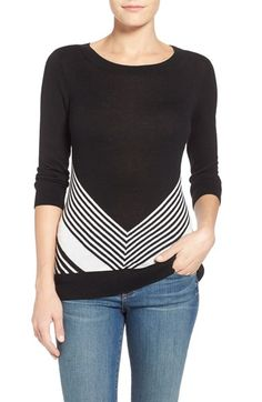 Love the chevron detail here. Free shipping and returns on Halogen® Three Quarter Sleeve Sweater (Regular & Petite) at Nordstrom.com. A fine-gauge, three-quarter-sleeve sweater is styled with a gracefully rounded neckline and fitted silhouette. Collect it in a plethora of stripes and on-trend patterns and colors.