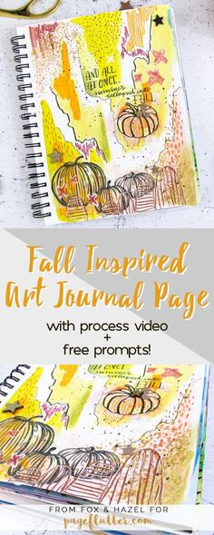 Fall Inspired Art Journal Page // Fox + Hazel for Page Flutter