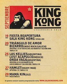 Septiembre en Sala King Kong...grrrrrr!