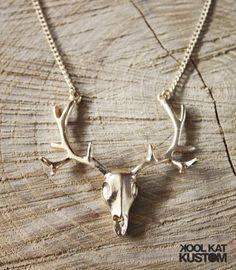 Golden Antlers Necklace - KOOL KAT KUSTOM