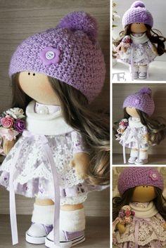 Soft doll Art doll Fabric doll Handmade doll Nursery doll Cloth doll Baby doll…