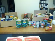 TLC Nashville collected lots of cans for a local food bank!