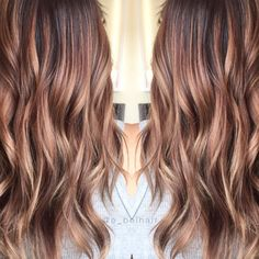 """The perfect fall hair color! 95 Likes, 6 Comments - Emily Belcher✌ (@e_belhair) on Instagram: """"Going from auburn to blonde can be a process, but it doesn't have to be ugly! I actually REALLY…"""""""