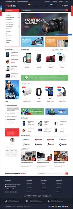 ClickBoom is clean and modern design 3+ responsive #Shopify theme for stunning digital shop #eCommerce #website to download & live preview click on image or Visit #webdev