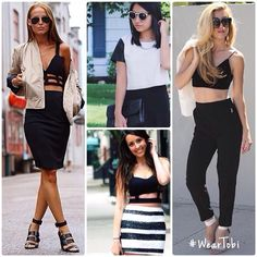 Tobi girls love cropped tops