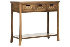 Lincoln 3-Drawer Console Table, Light Walnut | One Kings Lane