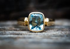 Aquamarine 14k Gold Ring 7 - Stunning Aquamarine Ring 14k Gold - Natural Aquamarine and 14k Gold - Aquamarine Ring - Beautiful Blue Aqua by NaturalRockShop on Etsy https://www.etsy.com/listing/480940624/aquamarine-14k-gold-ring-7-stunning