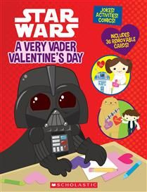 Star Wars: A Very Vader Valentine's Day by Trey King, illustrated by Katie Cook. A quirky Valentine's Day-themed activity book filled with Star Wars comics, games, and thirty-six perforated Valentine's Day cards!
