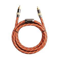 Free shipping High quality Hifi Digital Coaxial Audio Video RCA Coax Cable Cord Gold 1m/1.5m/2m/3m/5m/8m/10m #Affiliate