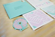 Just an adorable little cut out paper Ferris-wheel as part of an invitation!