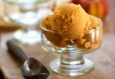 Combining coconut milk, pumpkin puree, maple syrup, and sweet spices, this ice cream is a fall treat, on its own or served over a warm dessert.