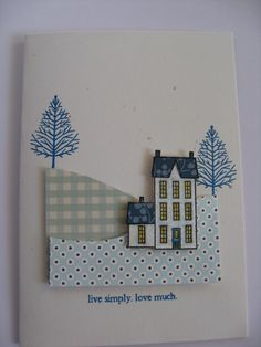 PTI Winter Hills set. Little Bitty Bird sentiment, PTI Make it Monday: Paper Piecing | Flickr - Photo Sharing!