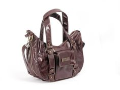 Ju-Ju-Be Behave Earth Leather Diaper Bag, Brown/Zany Zinnias, recommended by @sheenatatum