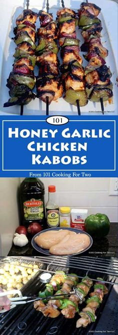 Honey Garlic Chicken Kabobs from 101 Cooking for Two
