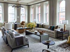 Inside A Tribeca Family Loft Filled With Mid-Century Modern Furniture And Art - ELLEDecor.com