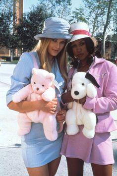 Clueless 90s fashion Cher Horowitz Fluffy faux fur teddy bear backpack bag rucksack bucket hat cute