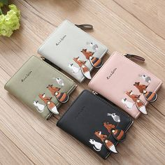Exquisite Buckle Coin Purses Flamingo Bird With Pineapple Tropical Fruit Mini Wallet Key Card Holder Purse for Women
