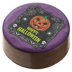 Happy Halloween Jack o Lantern Chocolate Dipped Oreo - party gifts gift ideas diy customize