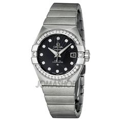 Omega Constellation Black Dial Stainless Steel Ladies Watch 123.15.27.20.51.001