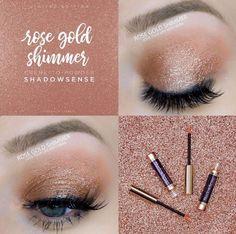 Rose Gold Shimmer ShadowSense eyeshadow*Limited Edition* FB: @AZGlamGirl Insta: @AZGlamGirl #shadowsense #rosegold #makeupartist #makeup