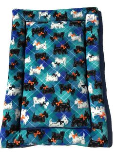 Scottish Terrier Dog Bed, Scottie Dogs, Washable Dog Beds, Colorful Pet Bedding, Dog Crate Mats, Kennel Dog Pad, Made in Colorado, Dog Gifts by ComfyPetPads on Etsy