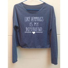 Crop Long Sleeves Luke Hemmings Tank 5 Seconds of Summer Tank Shirt... (190 ZAR) ❤ liked on Polyvore