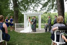 Outdoor Blue and White Wedding by 13 One Photography » KnotsVilla