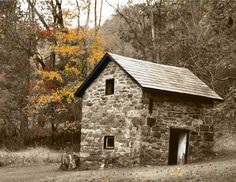 stone house paintings | Old Stone House Home Decor Wall Art Matted Picture | Old Stone Homes