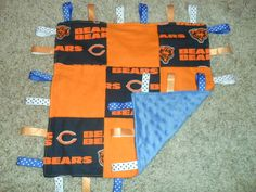 Chicago Bears Football Baby Taggie.  Need this for baby boy!