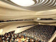 New Century City Art Centre, Chengdu, futuristic architecture, Zaha Hadid, future building