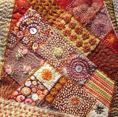 AmAZing quilts and embroidery combinations