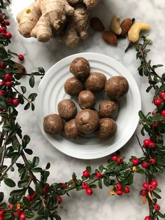 Raw Food Recipes, Dessert Recipes, Cooking Recipes, Healthy Recipes, Vegan Christmas, Christmas Baking, Healthy Baking, Healthy Treats, Dessert Healthy