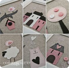 quadretti pink brown by countrykitty, via Flickr