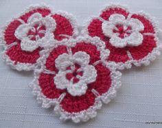 Crochet Strawberry Applique Patterns