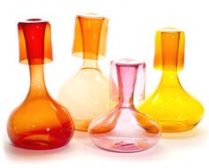 Glassware by Portland-based design studio Esque, via Design*Sponge.