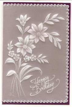 really like this border Vellum Papier, Vellum Crafts, Crochet Bolero, Parchment Design, Parchment Cards, Floral Drawing, Creation Deco, Beautiful Handmade Cards, Quilling Designs