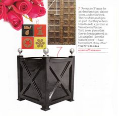 Love this planter from Accents of France that was recently featured in House Beautiful.