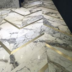 Marble and Brass inlay floor