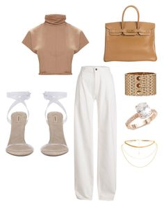 """""""Untitled #195"""" by susannhaabeth on Polyvore featuring Maison Margiela, Hermès and Saks Fifth Avenue"""