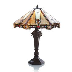 Traditional Mission Style Stained Glass Table Lamp #RiverofGoods