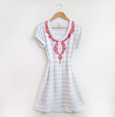 stenciled t-shirt dress.