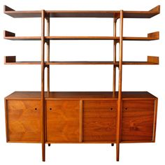 Vintage Midcentury Room Divider by Milo Baughman for Glenn of California | From a unique collection of antique and modern credenzas at http://www.1stdibs.com/furniture/storage-case-pieces/credenzas/