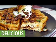 How to make mashed potato waffles - YouTube