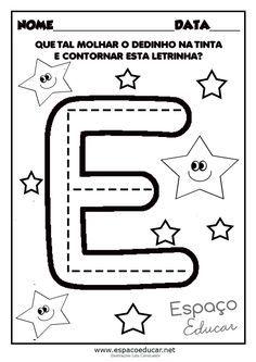 Atividades com vogais: Vamos pintar as letras com guache? - ESPAÇO EDUCAR